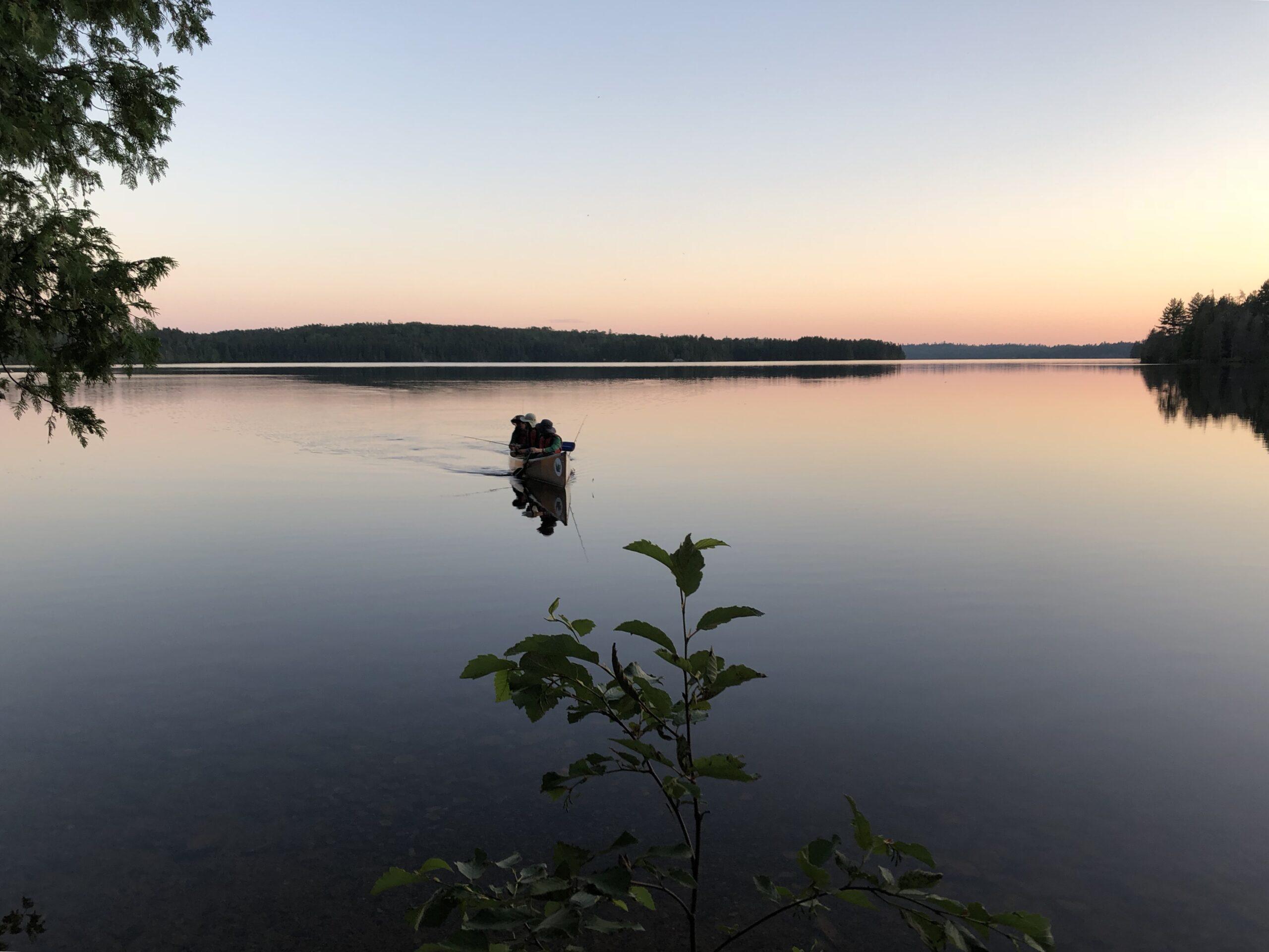 Twilight canoe to fetch water